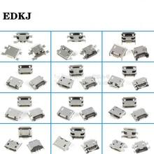 Connecteur de prise SMT, Micro USB Type B, prise femelle 12 modèles, 60 pièces, 5 broches