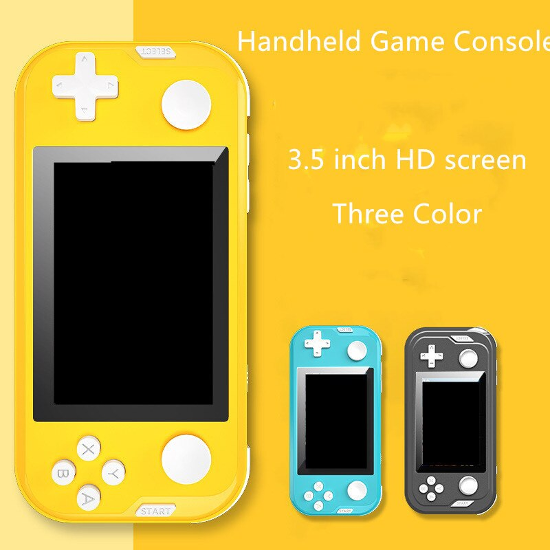 New RS55 Retro Handheld Game Console Built in 1500 Game 6 Emulator Double Joystick Game Console For Children Game Gift