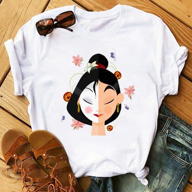 Camiseta de princesa para mulheres, streetwear, harajuku, kawaii, estival et à la mode, grande taille