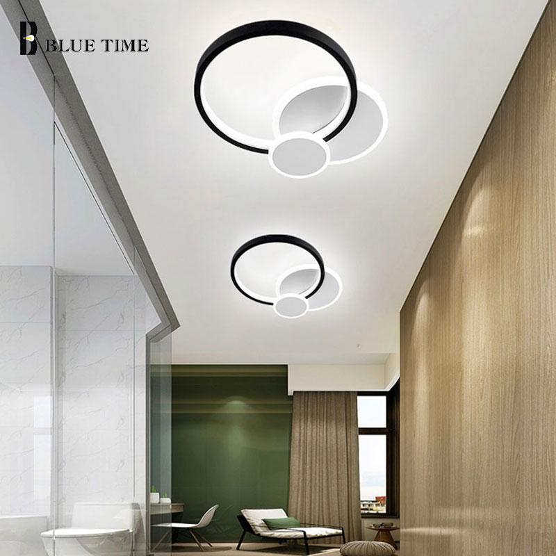 مصباح سقف أكريليك Led بتصميم حديث ، إضاءة زخرفية داخلية ، مثالي لغرفة المعيشة أو غرفة النوم أو المطبخ أو الرواق.