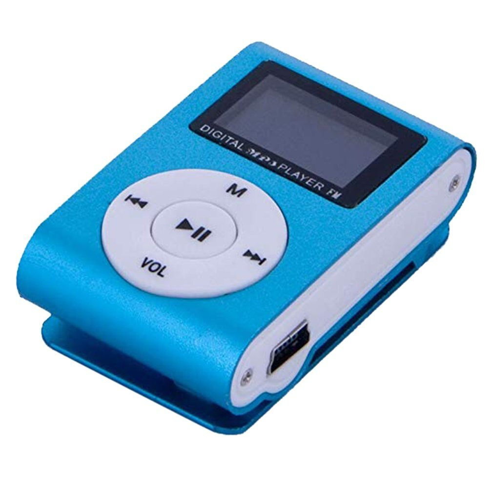 Metal Clip Digital Mini MP3 Player With 1.8 Inch LCD Screen Support TF Card USB 2.0 With 3.5mm Headp