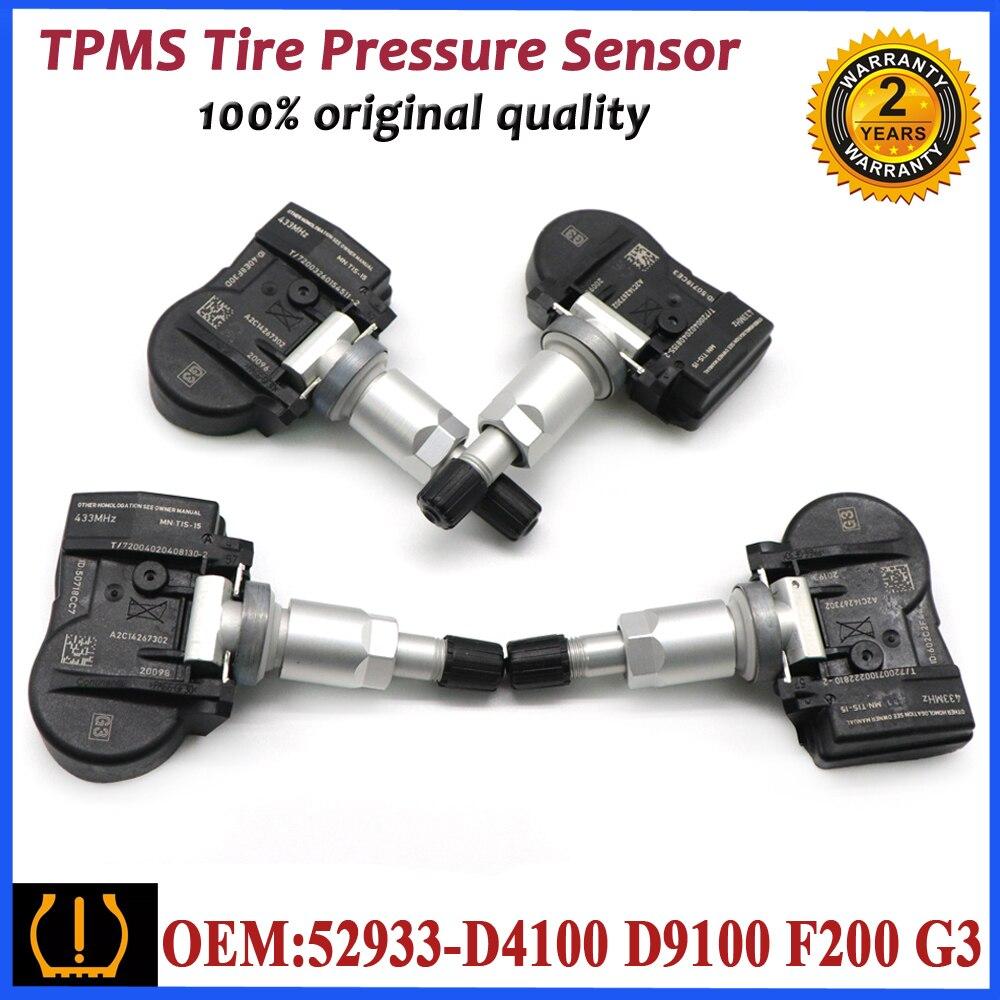 52933-D4100 coche Original TPMS Sensor de presión de neumáticos para Hyundai ELANTRA grandeza I30 IONIQ KONA para Kia OPTIMA 52933-D9100