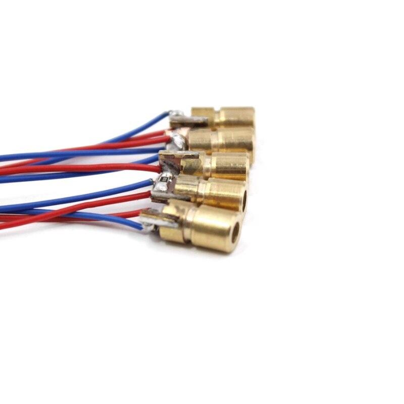 30 шт. Мини красный лазер диод лазер 3 В 650 нм 5 мВт красный точка лазер головка% 2C внешний диаметр 6 мм