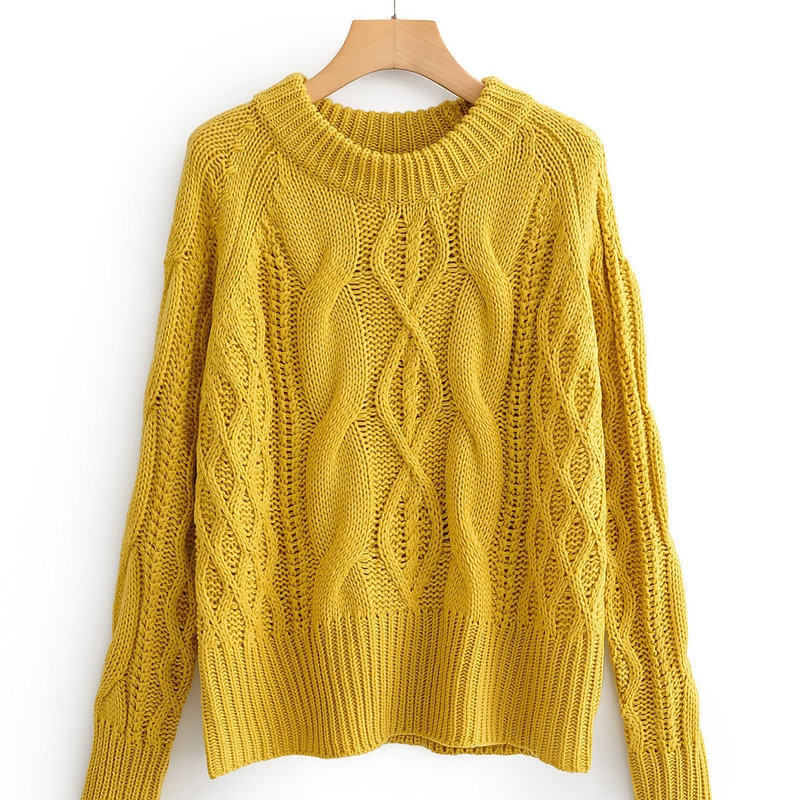 Hot sale JFN58-1747 European and American fashion twist knitting a sweater