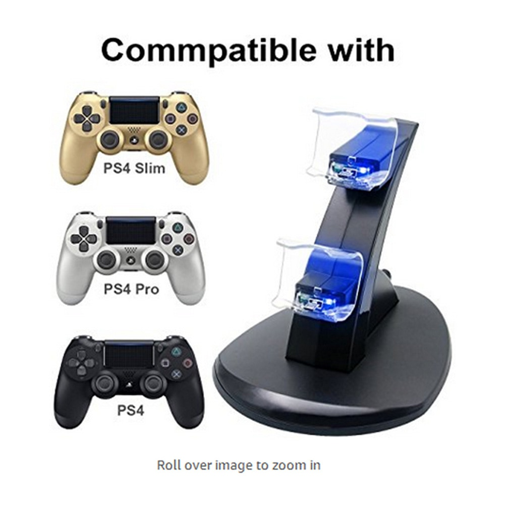Gamepad Dual USB Charging Stand Stations Game Controller Charger Dock for PS4 Electronic Machine Accessories