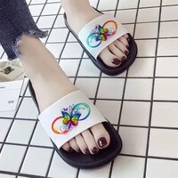 2021 womens slippers red and black butterfly print sandals women summer fashion house outdoor beach slides
