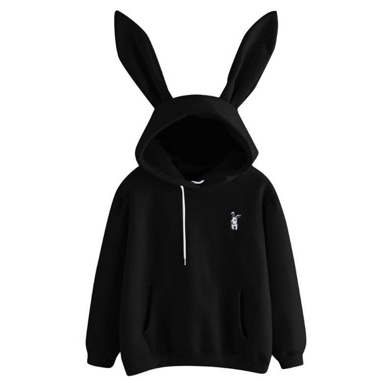 2021 Sweety Mode Nieuwe Vrouwen Hoodies Bunny Konijnenoren Hoody Dames Trui Jumper Sweater Tops