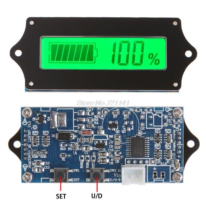 12/24/36/48/60/72V LED de almacenamiento de ácido de plomo indicador de batería probador de calibre Monitor Dropship