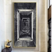 canvas paintings abstract geometric retro infinite corridor posters and prints wall art picture room cuadros home decoration