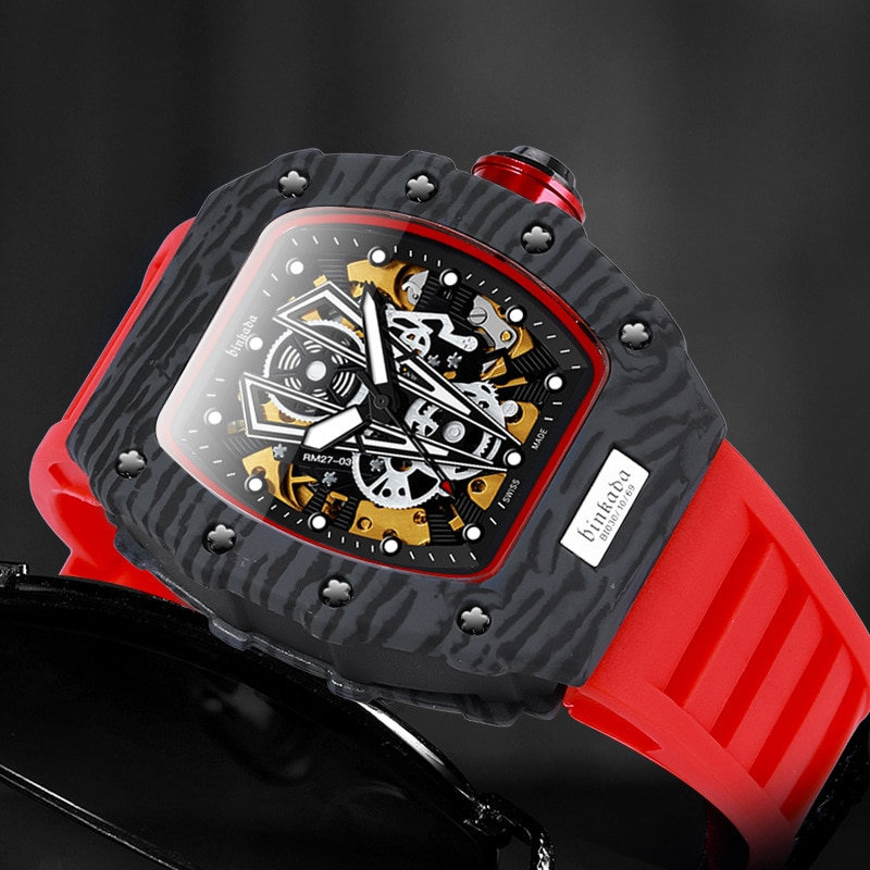 2021 Brand Automatic Mechanical Watch Wood Grain Fashion Casual Women's Watch Silicone Luminous Fashion Sports Waterproof Watch enlarge