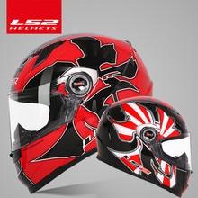 Original LS2 Alex Barros volle gesicht moto rcycle helm capacete casque moto LS2 FF358 ECE genehmigt keine pumpe