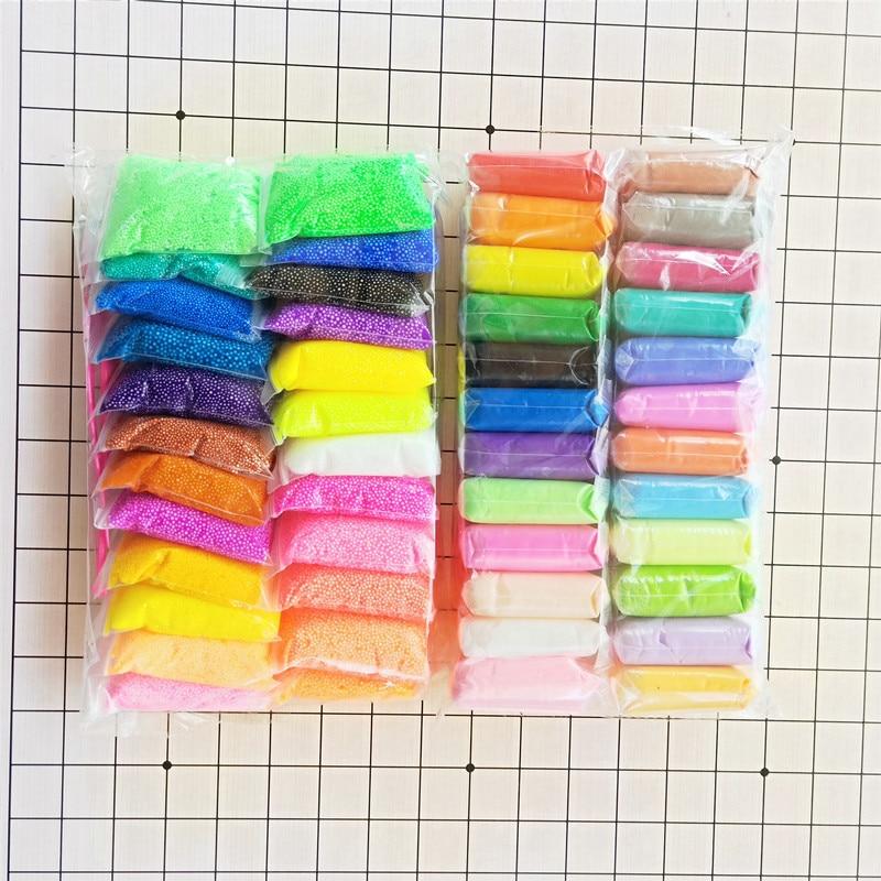 Arcilla superligera de limo en 36 colores con 3 herramientas de secado por aire plastilina ligera arcilla de modelado hecha a mano juguetes educativos 5D arcilla azul
