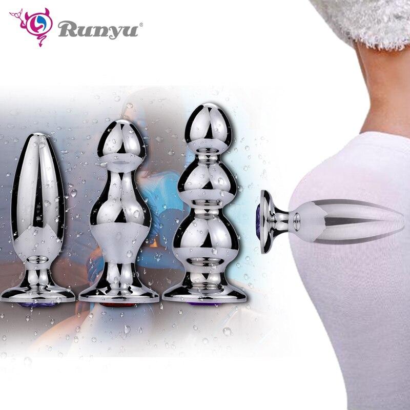 Runyu الكبار كبيرة الشرج الجنس لعب ضخمة الحجم سدادة/ مقابس المؤخرة تدليك البروستاتا للرجال الإناث فتحة الشرج التوسع محفز كبير الشرج الخرز