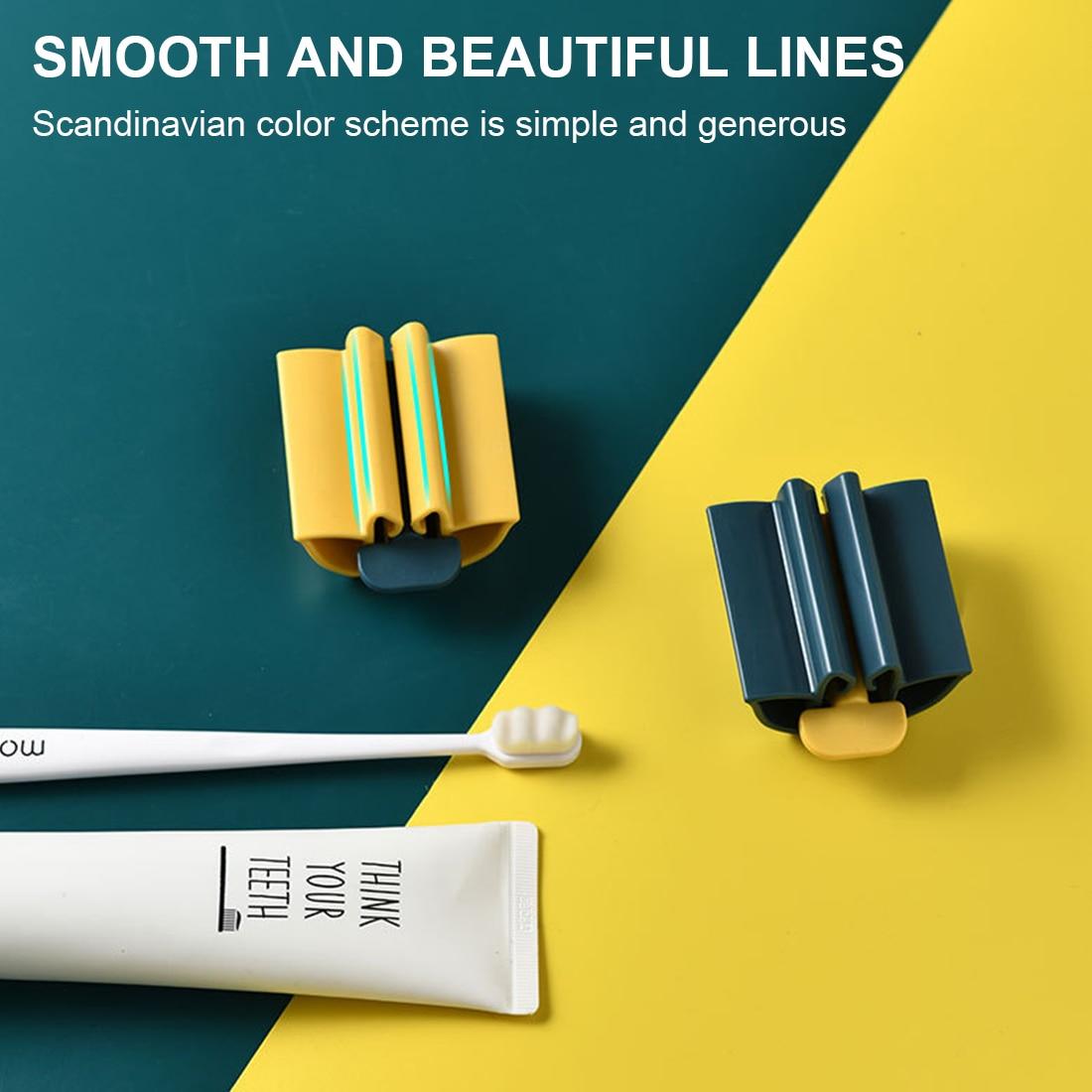 Exprimidor de pasta de dientes de tubo rodante para baño, soporte práctico...