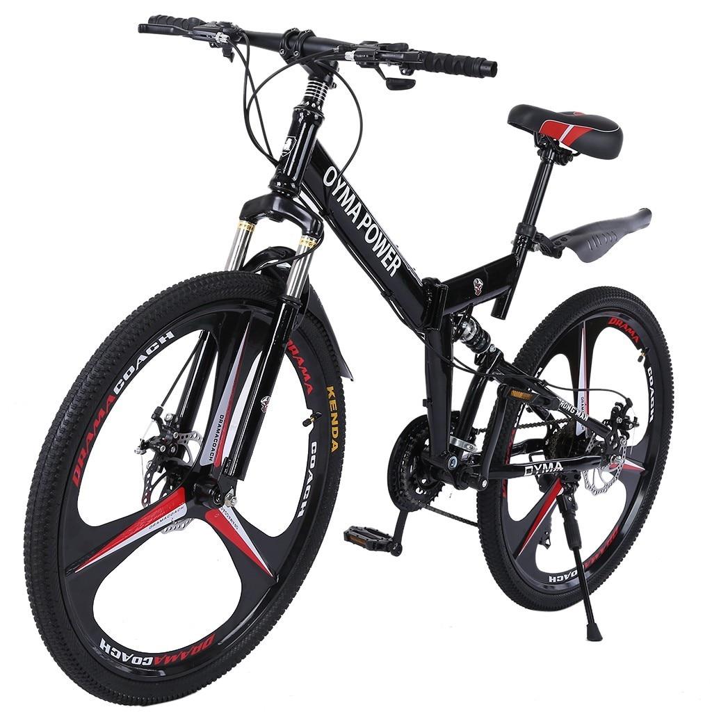26in pliant vtt vélos VTT Shimanos 21 vitesses vélo De route vélo pleine Suspension Bicicleta De Montaña US Stock