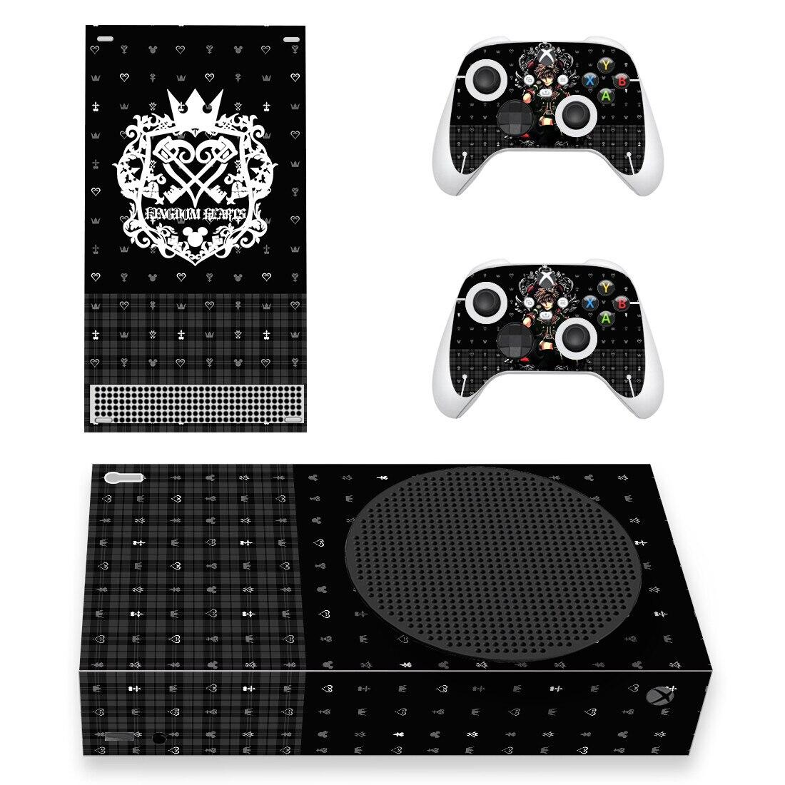 المملكة-ملصق جلدي على شكل قلب ، غطاء لاصق لوحدة تحكم Xbox ، 2 وحدة تحكم ، سلسلة Xbox ، فينيل