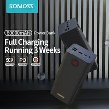 ROMOSS PEA60 Power Bank 60000mAh SCP PD QC 3.0 Quick Charge Powerbank 60000 mAh External Battery Cha