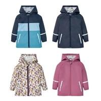 hooded waterproof jacket girls pu rain baby boy coat sport children windbreaker outdoor beach kids outerwear clothes raincoat
