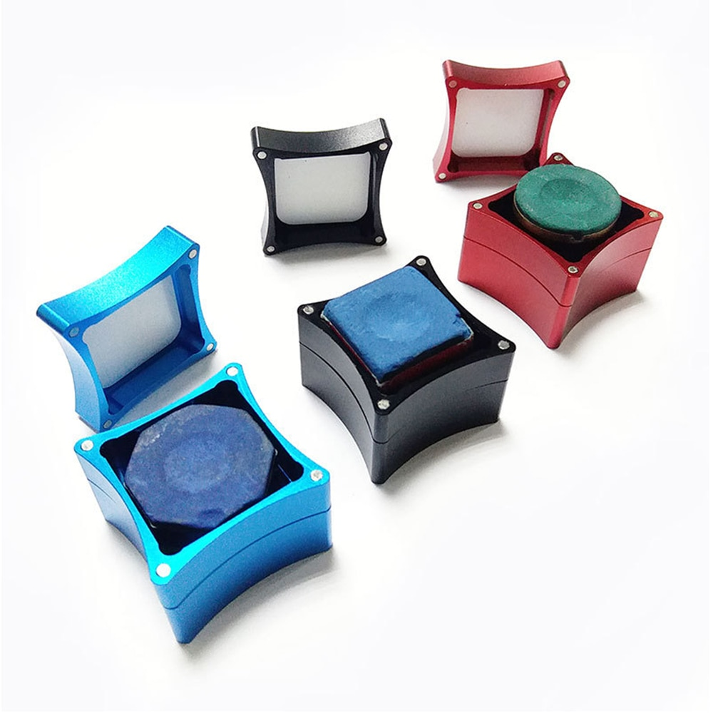 Portable Metal Mini Chalk Billiard Holder Splicing Pool Chalks Carrier Case Box Snooker Accessories