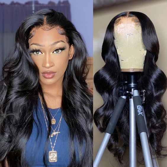 Queenlife 6x6 Body Wave Lace Closure Wig 150/180 Density Remy 18- 32 Inch Lace Wig Brazilian Human Hair Remy Hair Wig
