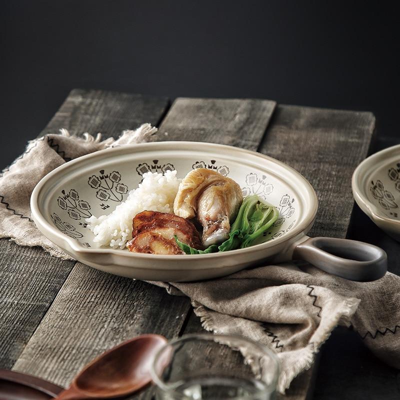 Panelas-acessórios de Cozimento Estilo Nórdico Cerâmica Pote Cozinhar Ovo Pan Nenhuma Vara Panqueca Multi Função