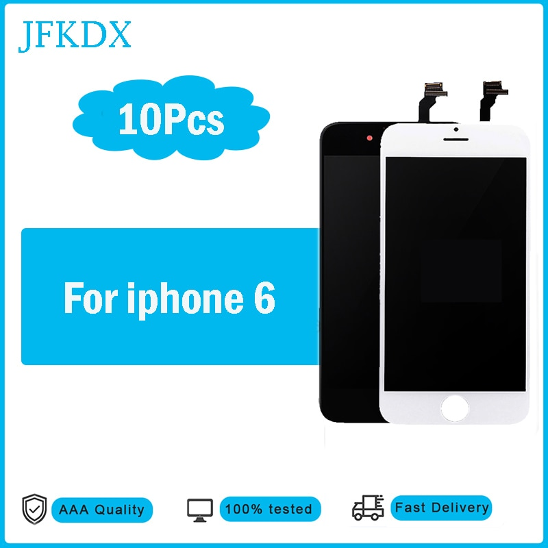 10Pcs/lot High Quality 3D Touch Screen For Iphone 6 Lcd Display Digitizer Assembly Replacement 100% No Dead Pixel Perfect Repair