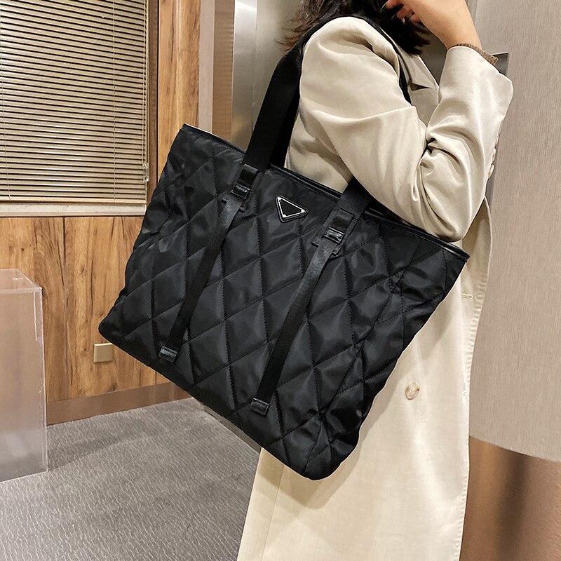с доставкой Winter Large Shoulder Bags for Women 2020 Trend Hand Bag Women's Branded Trending Black Handbags and Purses