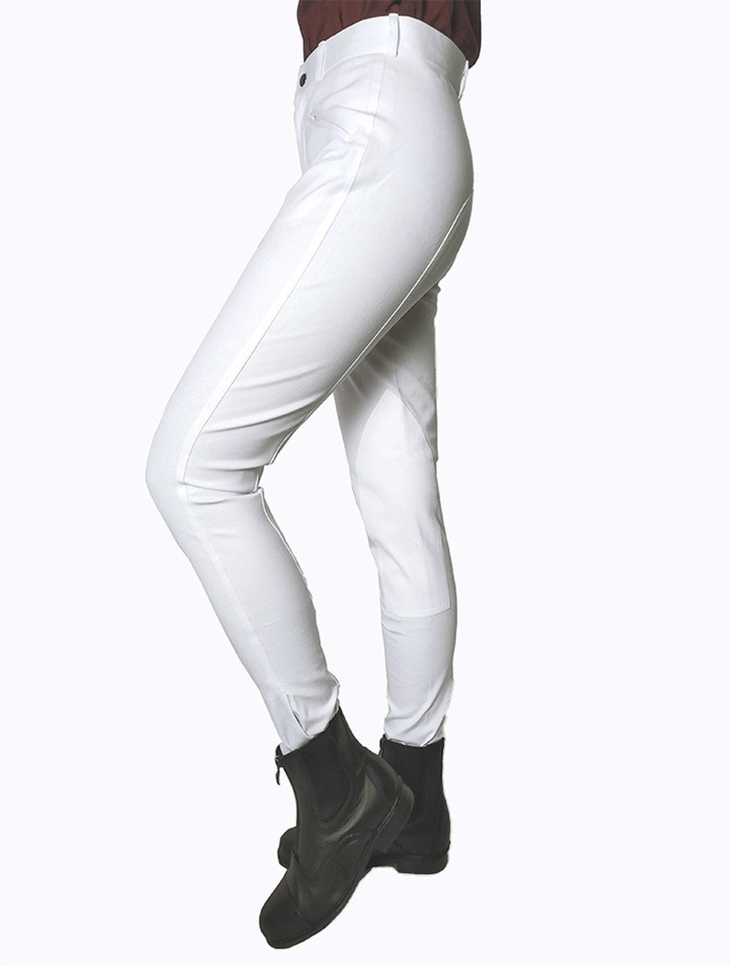 Half-leather Breeches Equestrian Equipment Sport Pants High Waist Elastic Equestrian Trousers Horse Riding Pants Leggings Riding