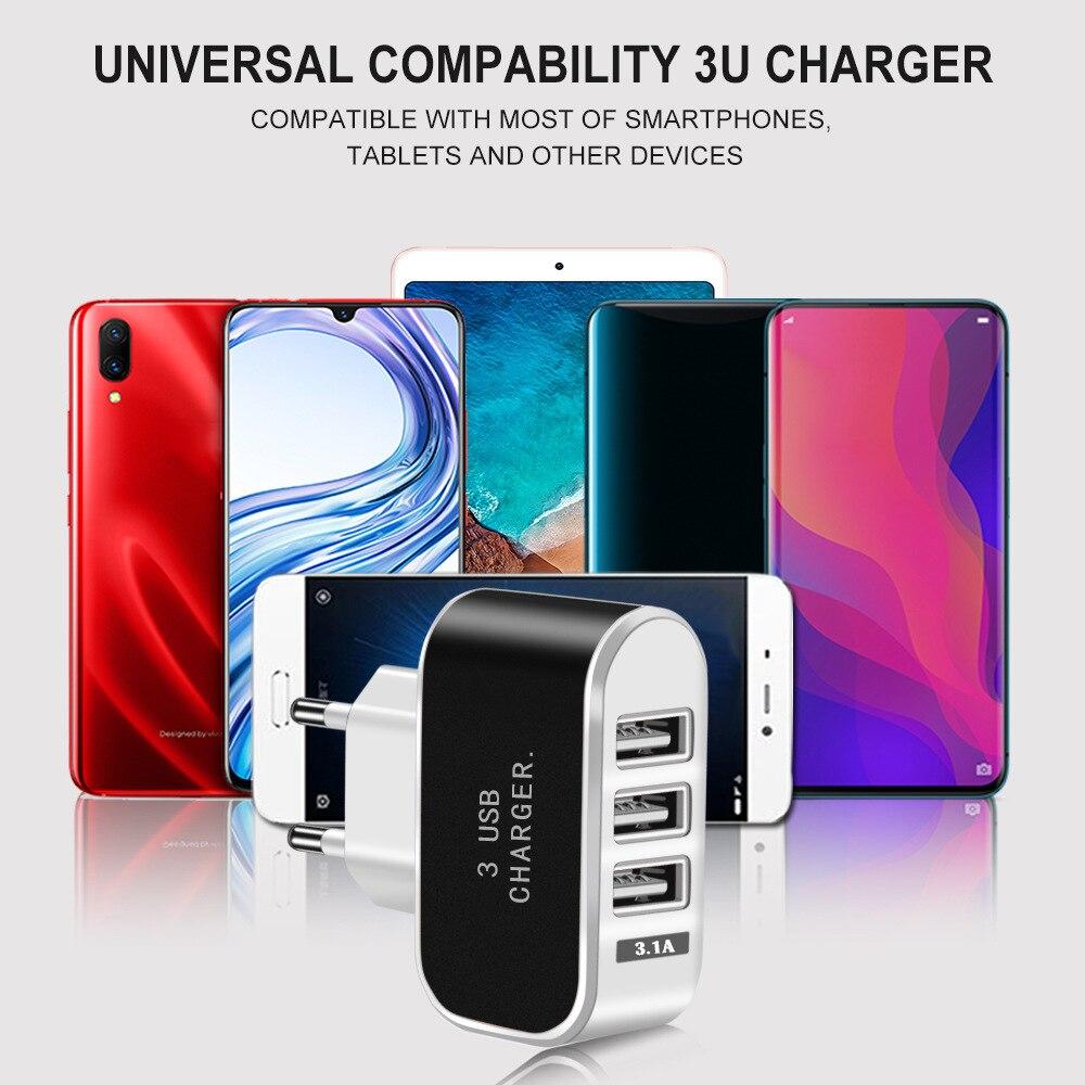 3usb carregador de doces eurogage led carregador de telefone móvel 5v2a inteligente multi porta usb carregador