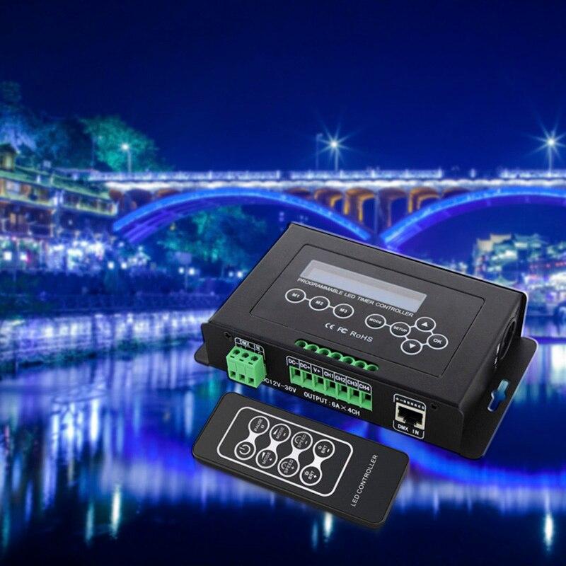 BC-300 Time programmable LED Controller RGB RGBW Tape Controller programmable Timer Light DMX 512 signal Controller DC12V-36V enlarge