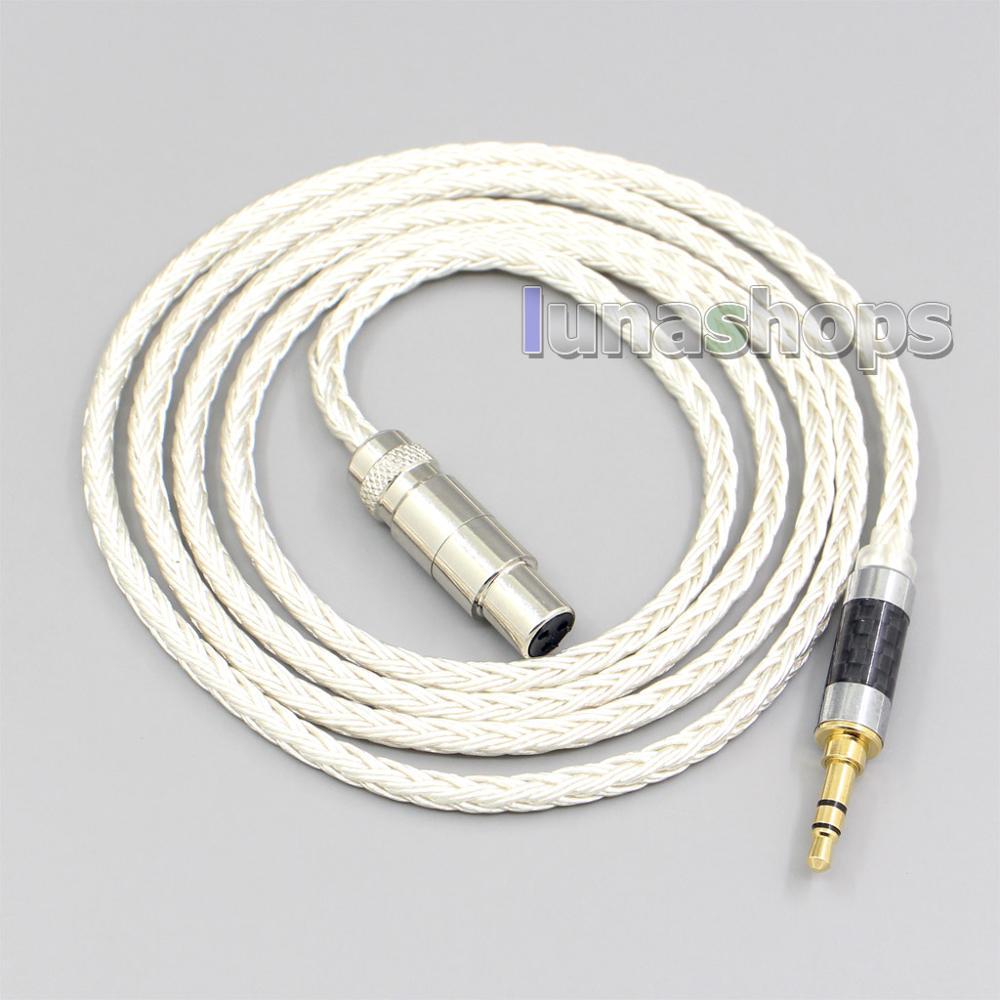 Cable para auriculares de 16 núcleos, chapado en plata, para Beyerdynamic DT1770...