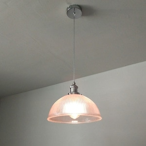 Modern Restaurant Bedroom Study Corridor Bar Industrial Pink Glass Chandelier Creative Single-Head Semi-Circular Chandelier