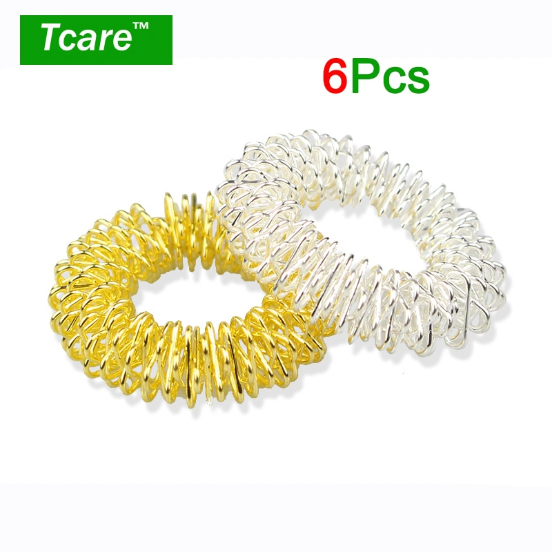 health care ce Tcare 6Pcs/Lot Hot Sale Finger Massage Ring Acupuncture Ring Health Care Body Massage Finger Massage & Relaxation Health Care