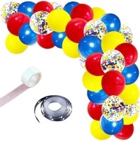42pcs hero balloons garland arch kit red blue yellow balloons wedding kids birthday party decorations baby shower globos