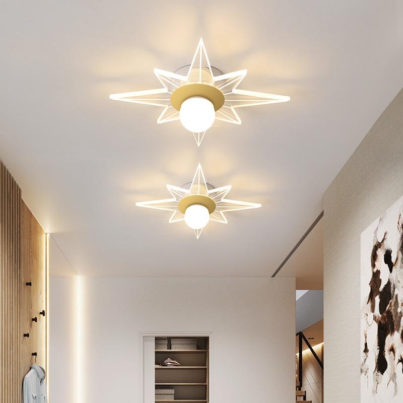 Star shaped 2021 new ceiling lamp vestibule corridor porch balcony living room ceiling ceiling ceiling lamp