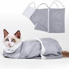 Pet Bath Bag Adjustable Multi-function Polyester Portable Pet Grooming Bag for Examing Washing Cat B
