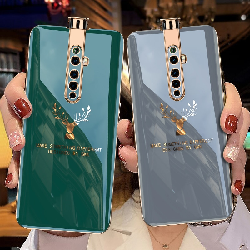 Luxury Plating Soft Case For OPPO Reno 2 2Z 10X Zoom Realme X2 Pro Anti-knock Protective Cover For R