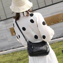 2020 nouveau Style lavé en cuir femmes moyen-âge maman sac à bandoulière simple errant colddler femmes sac
