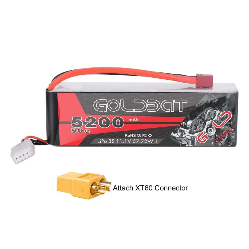 GOLDBAT 3S 5200mAh 11,1 V 50C LiPo RC batería con enchufe Deans y conector XT60 para RC Evader BX coche RC camión RC helicóptero avión