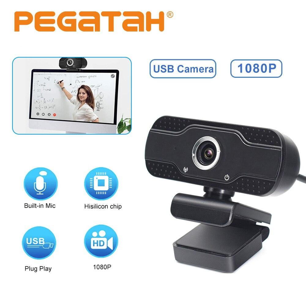 Full HD 1080P HisiliconChip webcam mini USB cámara Web con micrófono cámara web Auto enfoque computadora cámara Web cámara web usb para PC