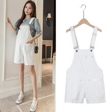 Maternity Overalls Summer Suspender Shorts Maternity Denim Shorts Casual Wear Simple Fashion Overall