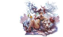Impresión de carteles de tela (marco disponible) Juego de Arte de anime en línea blade soul girl tiger PP317 para pared arte decoración de habitación decoración del hogar