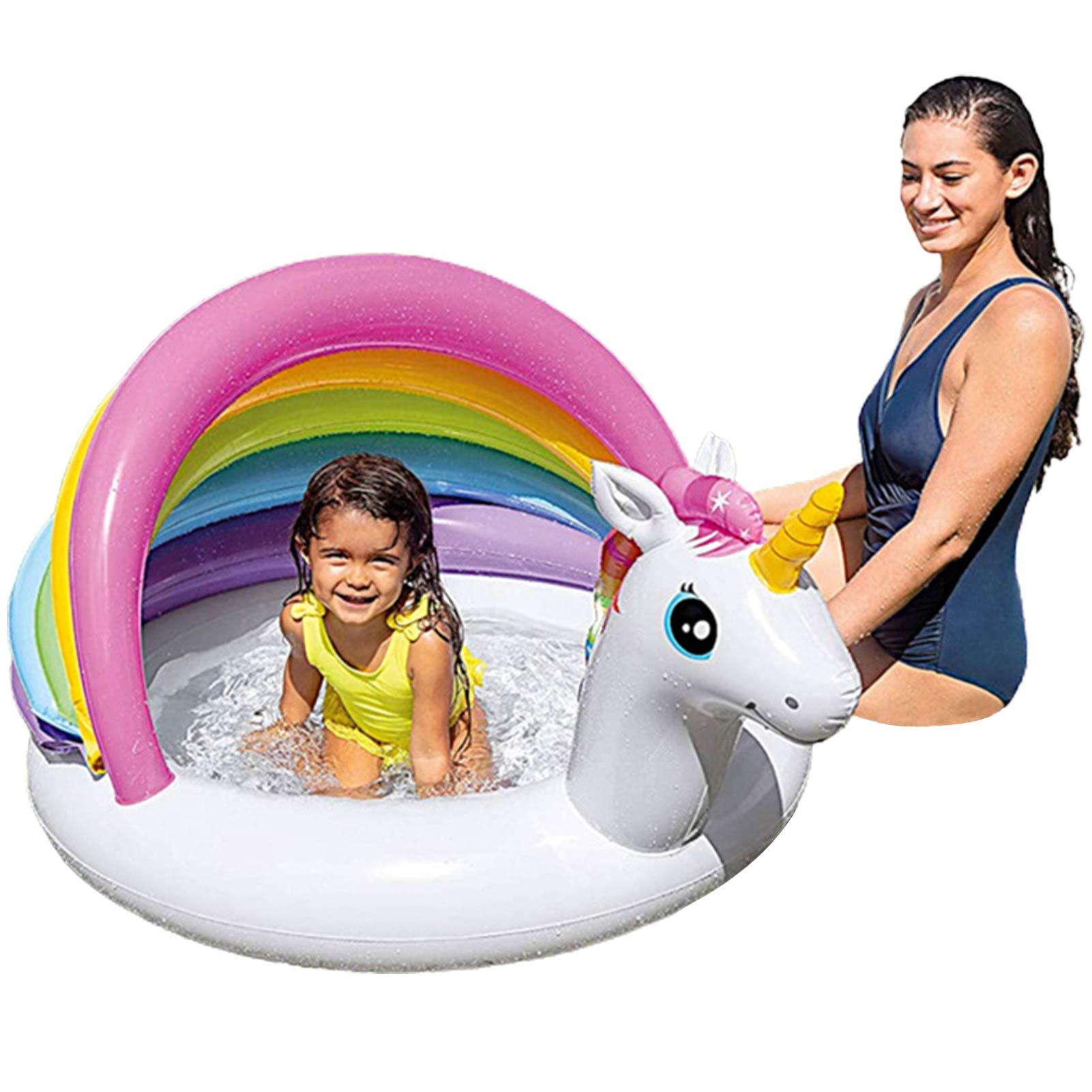يونيكورن الظل الطفل حمام سباحة قابل للنفخ المظلة تجمع التجديف