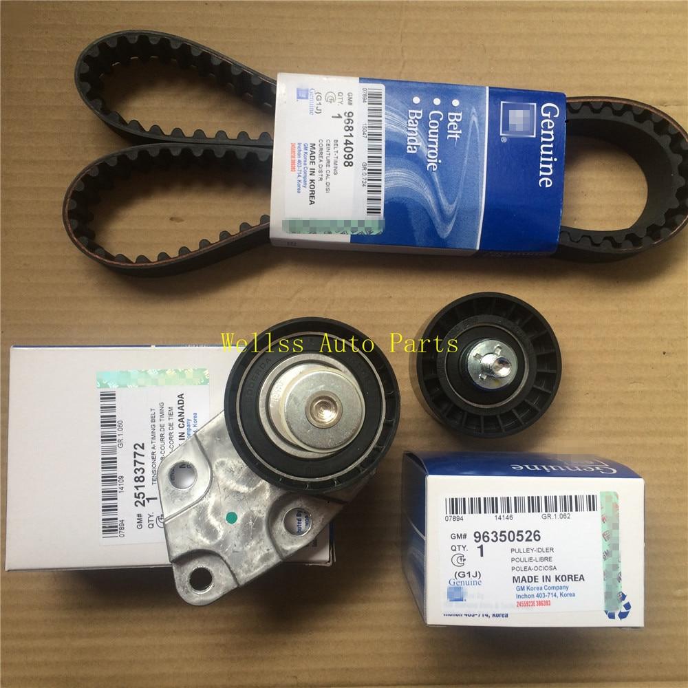 Timing Belt Kit Tensioner For Chevy Optra Lacetti Chevrolet Aveo 1.6 L DOHC E-TEC II 16V Genuine OEM 93744703