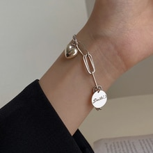 yin ao 925 Sterling Silver Thai Silver Bracelet Female Ins Special Interest Light Luxury High Grade