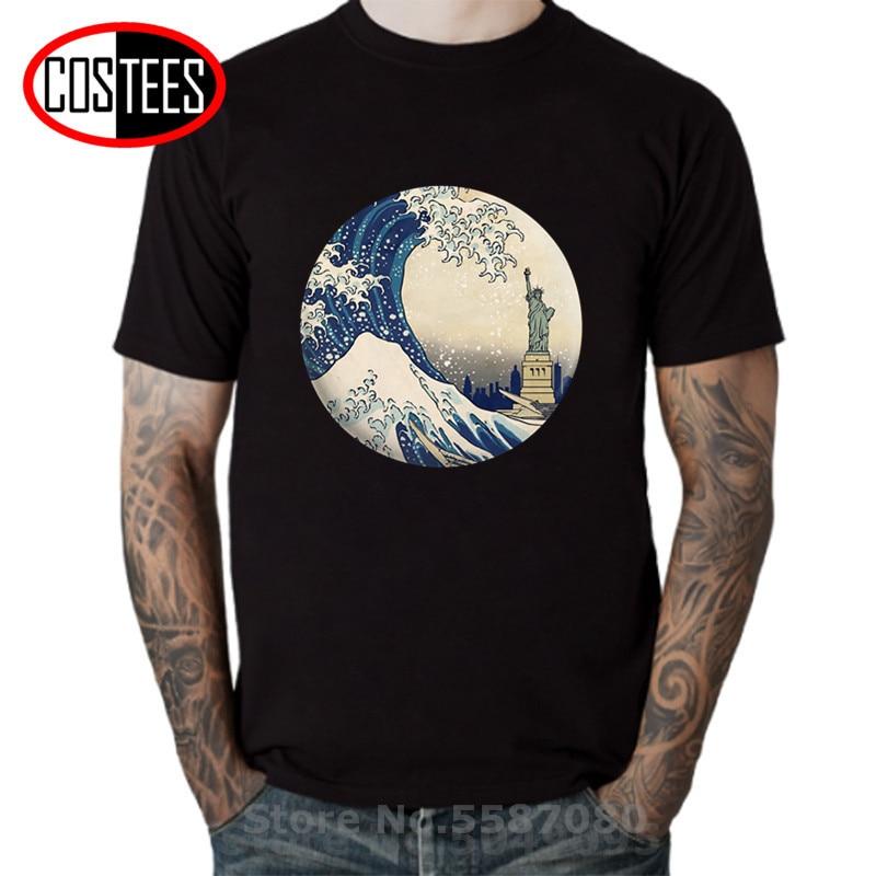 Camiseta con imagen de Estatua de la libertad de EE. UU., Camiseta...