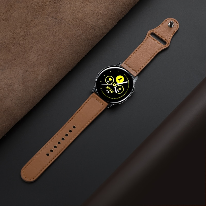 22mm/20mm active 2 strap for Samsung galaxy watch 46mm 42mm 3 45mm 41mm gear S3 frontier Huawei GT-2-2e Genuine Leather band