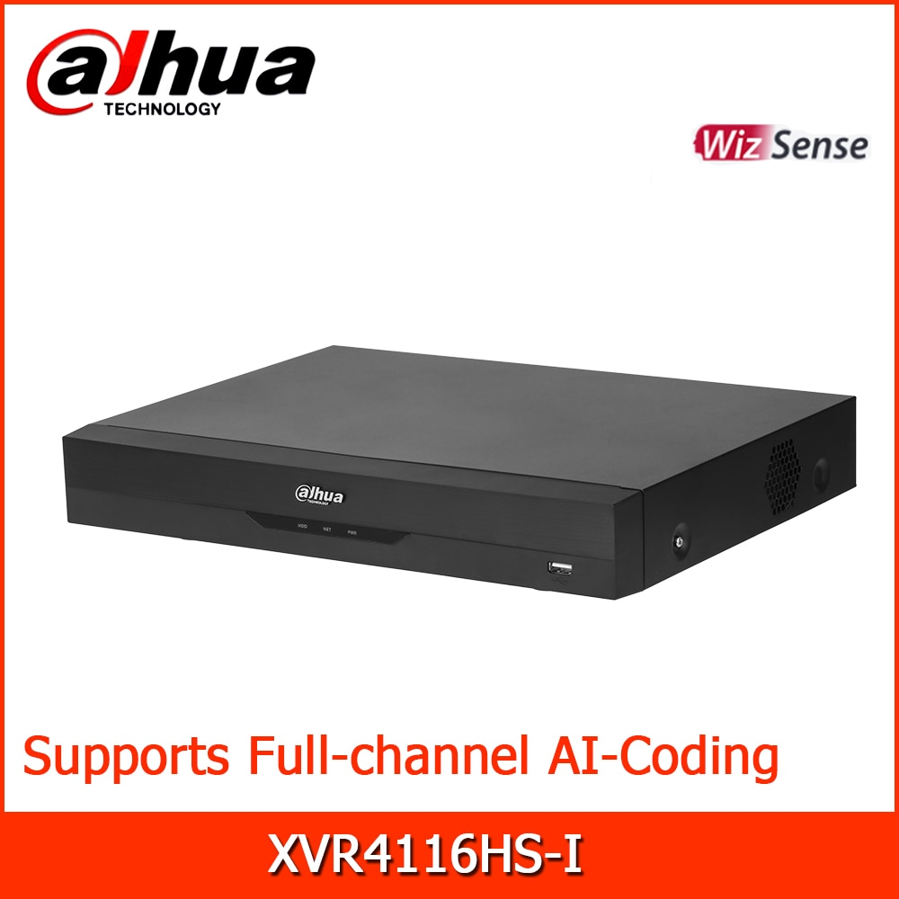داهوا HDCVI مسجلات XVR4116HS-I 16 قناة خماسي brid 720P المدمجة 1U 1HDD WizSense الرقمية فيديو مسجل