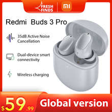 TWS Bluetooth наушники глобальная версия Xiaomi Redmi Buds 3 Pro, беспроводные наушники 35 дБ, ANC, двойное устройство Redmi Airdots 3 Pro