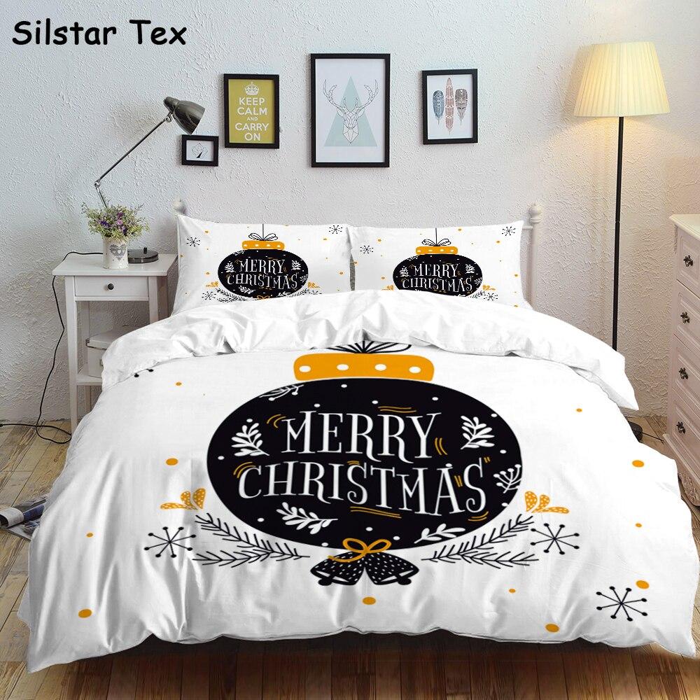 Silstar Tex, juego de cama Happy Christmas, regalo para niños, ropa de cama para bebé, ropa de cama mullida, edredón, Sábana doble de Hotel para hombre, funda de tamaño Queen